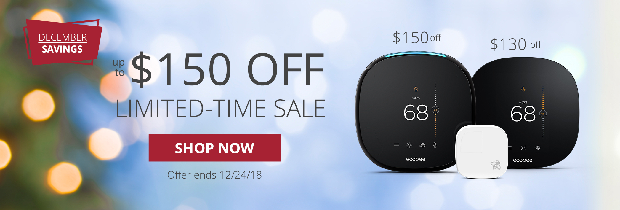 December Savings - Limited Time Sale - ecobee
